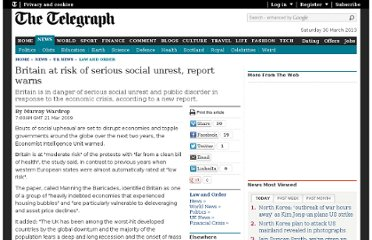 http://www.telegraph.co.uk/news/uknews/law-and-order/5025714/Britain-at-risk-of-serious-social-unrest-report-warns.html