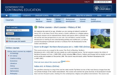 http://www.conted.ox.ac.uk/courses/online/short/subject.php?course_subject=History_of_Art