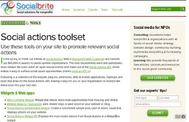 http://www.socialbrite.org/sharing-center/tools/social-actions/