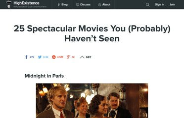 http://www.highexistence.com/25-spectacular-movies-you-probably-havent-seen/