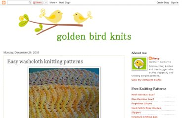 http://www.goldenbirdknits.com/2009/12/easy-wash-cloth-knitting-patterns.html