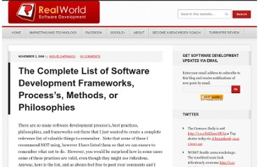 http://www.realsoftwaredevelopment.com/the-complete-list-of-software-development-frameworks-processs-methods-or-philosophies/