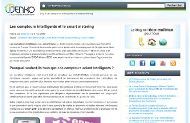 http://blog.ijenko.com/2009/05/les-compteurs-intelligents-et-le-smart-metering/