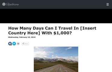 http://www.theexpeditioner.com/2010/02/10/how-many-days-can-i-travel-in-insert-country-here-with-1000/