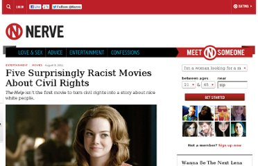http://www.nerve.com/movies/five-surprisingly-racist-movies-about-civil-rights