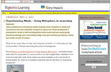 http://vignettestraining.blogspot.com/2011/05/transforming-minds-using-metaphors-in.html