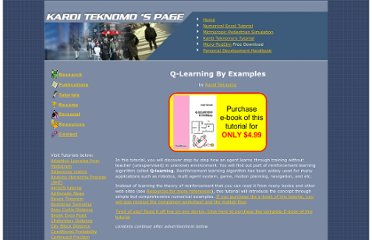 http://people.revoledu.com/kardi/tutorial/ReinforcementLearning/index.html