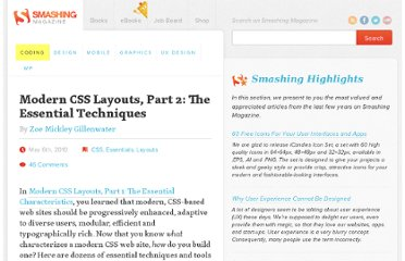 http://coding.smashingmagazine.com/2010/05/06/modern-css-layouts-part-2-the-essential-techniques/