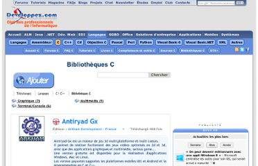 http://www.developpez.com/telecharger/index/categorie/451/Bibliotheques-C
