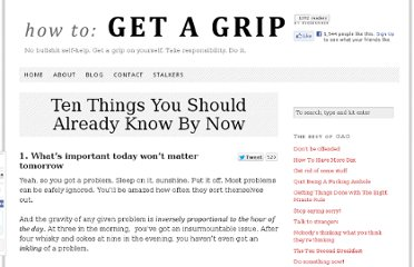 http://www.howtogetagrip.com/2010/ten-things-you-should-already-know-by-now/#