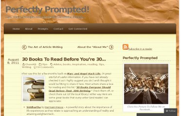 http://perfectlyprompted.wordpress.com/2011/08/08/30-books-to-read-before-30/