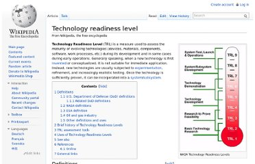http://en.wikipedia.org/wiki/Technology_readiness_level