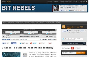 http://www.bitrebels.com/social/7-steps-to-building-your-online-identity/
