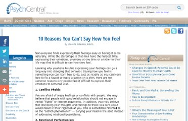 http://psychcentral.com/lib/2009/10-reasons-you-cant-say-how-you-feel/