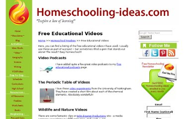 http://www.homeschooling-ideas.com/free-educational-videos.html