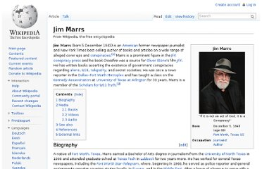 http://en.wikipedia.org/wiki/Jim_Marrs
