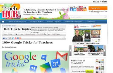 http://www.teachhub.com/100-google-tricks-teachers