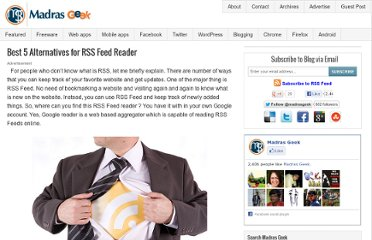 http://www.madrasgeek.com/2010/02/alternatives-for-rss-feed-reader.html