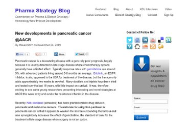 http://pharmastrategyblog.com/2009/11/new-developments-in-pancreatic-cancer-at-aacr.html/