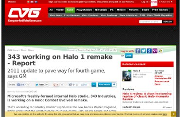 http://www.computerandvideogames.com/278410/343-working-on-halo-1-remake-report/
