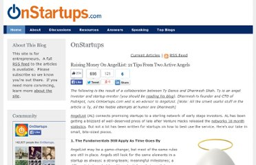 http://onstartups.com/tabid/3339/bid/63010/Raising-Money-On-AngelList-21-Tips-From-Two-Active-Angels.aspx