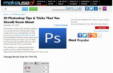 http://www.makeuseof.com/tag/20-photoshop-tips-tricks-that-you-should-know-about-part-one/