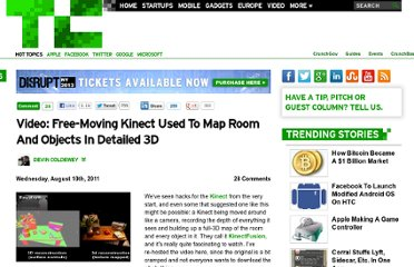 http://techcrunch.com/2011/08/10/video-free-moving-kinect-used-to-map-room-and-objects-in-detailed-3d/