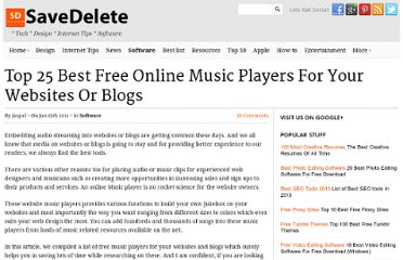 http://savedelete.com/top-25-best-free-online-music-players-for-your-websites-or-blogs.html