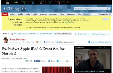http://allthingsd.com/20110222/exclusive-apple-ipad-2-event-set-for-march-2/