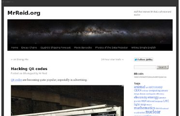 http://wordpress.mrreid.org/2011/08/06/hacking-qr-codes/