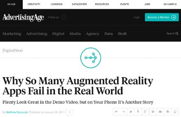 http://adage.com/article/digitalnext/augmented-reality-apps-fail-real-world/148540/