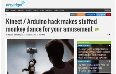 http://www.engadget.com/2011/08/10/kinect-arduino-hack-makes-stuffed-monkey-dance-for-your-amusem/
