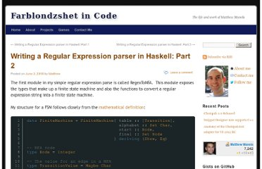 http://matthewmanela.com/blog/writing-a-regular-expression-parser-in-haskell-part-2/