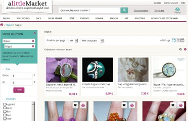 http://www.alittlemarket.com/page/search_creation/browse.php?se=solr&text=&sort=price&genre=&price_min=0&price_max=0&category1=10&modeaffichage=creation&comebycusto=0&category2=10BAGUE&page=20&#nav