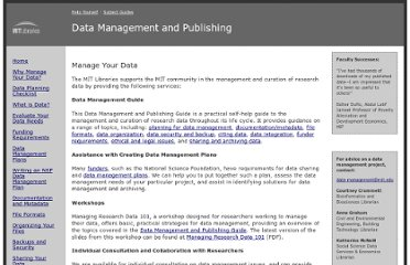 http://libraries.mit.edu/guides/subjects/data-management/