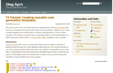 http://www.olegsych.com/2008/09/t4-tutorial-creating-reusable-code-generation-templates/