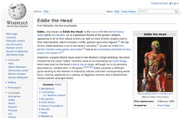 http://en.wikipedia.org/wiki/Eddie_the_Head