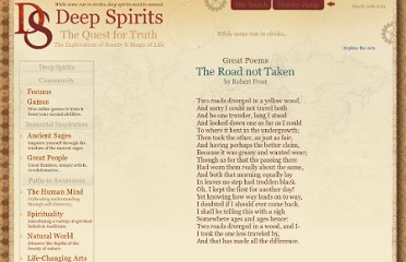 http://www.deepspirits.com/life-changing-arts/books/great-poems/road-not-taken.php