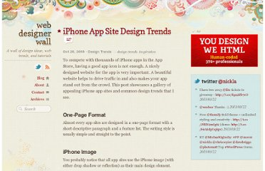 http://webdesignerwall.com/trends/iphone-app-site-design-trends