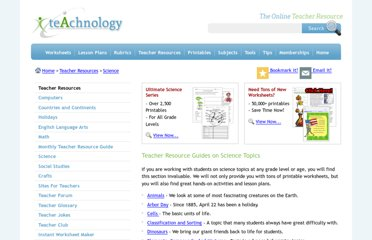 http://www.teach-nology.com/themes/science/