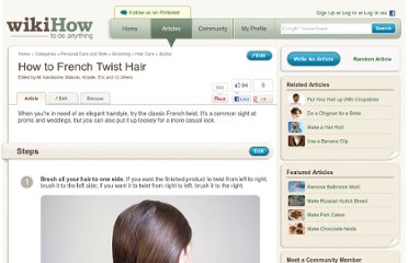 http://www.wikihow.com/French-Twist-Hair