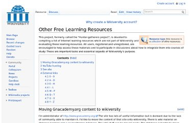 http://en.wikiversity.org/wiki/Other_Free_Learning_Resources
