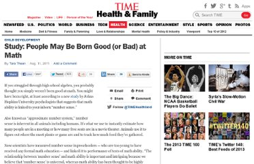 http://healthland.time.com/2011/08/11/study-people-may-be-born-good-or-bad-at-math/
