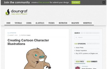 http://www.downgraf.com/tutorials/illustrator/creating-cartoon-character-illustrations/