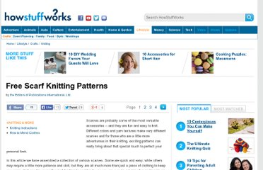 http://tlc.howstuffworks.com/home/free-scarf-knitting-patterns.htm