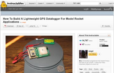 http://www.instructables.com/id/How-To-Build-A-Lightweight-GPS-Datalogger-For-Mode/