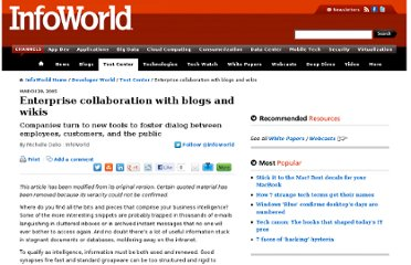 http://www.infoworld.com/d/developer-world/enterprise-collaboration-blogs-and-wikis-320