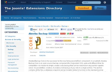http://extensions.joomla.org/extensions/access-a-security/site-security/backup/1606