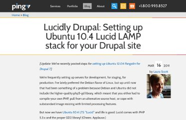 http://pingv.com/blog/lucidly-drupal-setting-up-ubuntu-10-4-lucid-lamp-stack-for-your-drupal-site