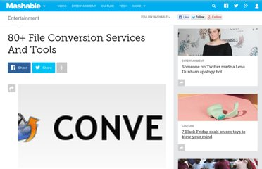 http://mashable.com/2007/11/05/80-file-conversion-services/